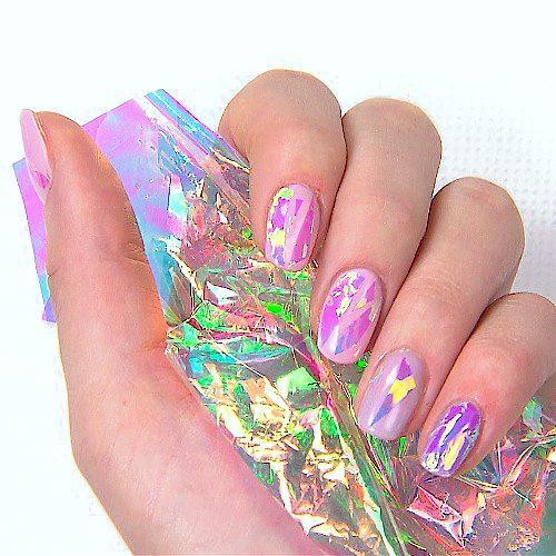 Pretty Nail Art Glass Foil Blue Nageldiscounter