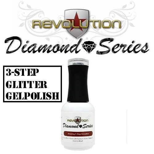 Revolution Diamond Series - Platinum Glitter Gelpolish